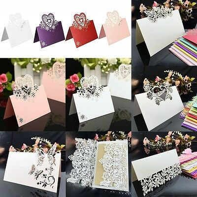 50Pcs Leaf Laser Cut Wedding Birthday Party Table Name Place Cards Favors Decor