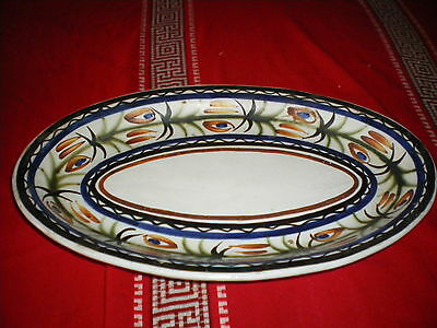 grand plat oval faience Quimper Keraluc