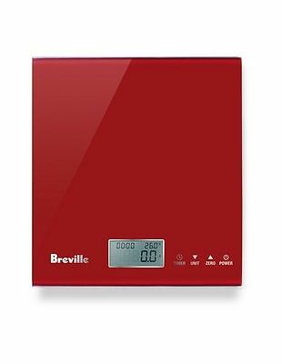 NEW Breville BSK200CB The Multi Measure Kitchen Scale: Cranberry Red