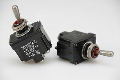 MS24524-22 Toggle Switch Kippschalter 2TL1-2 DPST, 2x On Off, 15A by Honeywell