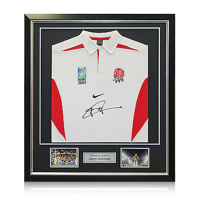 Jonny Wilkinson Signed 2003 England World Cup Rugby Shirt Framed