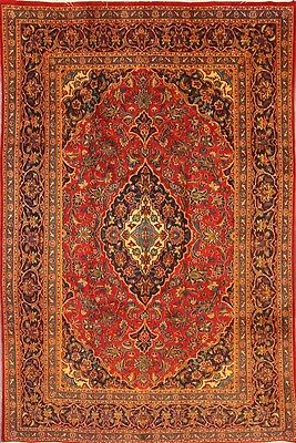 """Clearance Traditional Floral 7x10 Mashad Persian Oriental Area Rug 9' 5"""" x 6' 7"""""""