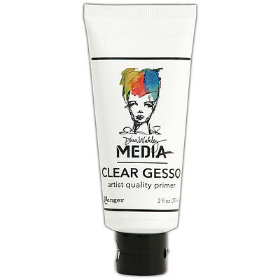 Dina Wakley Media Clear Gesso 2oz Tube-, Set Of 2