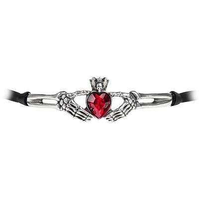 Alchemy Gothic Claddagh By Night Pewter Choker BRAND NEW
