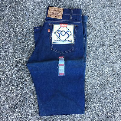 VTG Deadstock Levi's 505 Orange Tab Jeans Pants USA Made 34 X 30 Distressed NWT