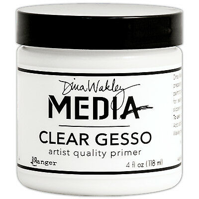Dina Wakley Media Clear Gesso 4oz Jar-