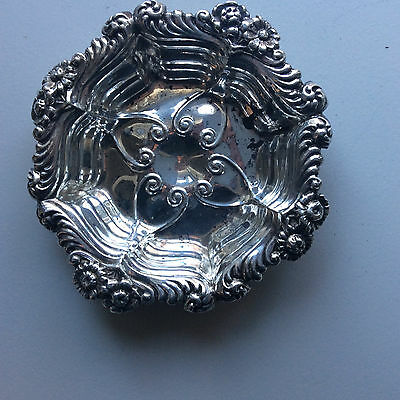 Antique Sterling Silver Candy Nut Dish