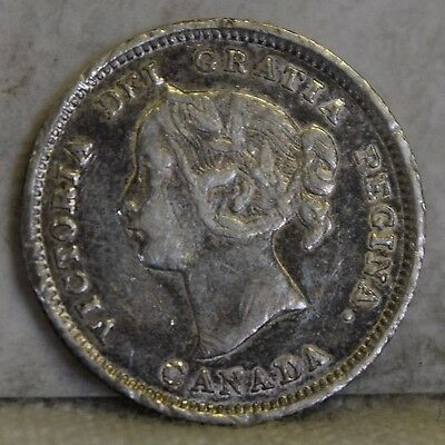 1892 *Silver* Canadian Five Cents *Free S/H After 1st Item*