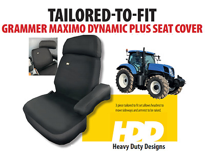HDD Grammer Maximo Dynamic Plus 3 Piece Seat Cover BLACK 441  - Tracked Courier