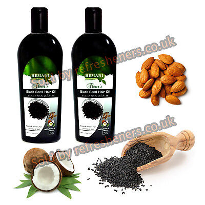 Hemani Black Seed Hair Oil 200ml・ Strong & Healthy Hair Treatment OIl