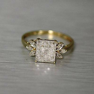 Natural 0.25 cwt Diamond Ring Solid 10k Yellow Gold