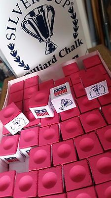Red Silver Cup Usa Snooker Or Pool Cue Chalks; Choose 2, 4, 6, 12 = New