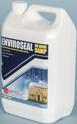 5L Enviroseal Water Repellent Masonry Stone Brick Wall Sealer Silicone Based
