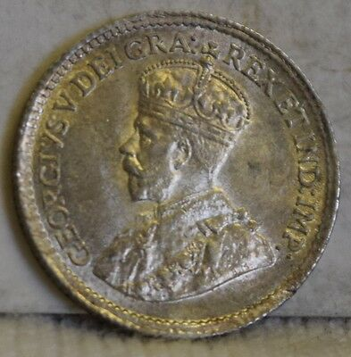 """1919 *Silver* Canadian 5 Cents """"Gem BU"""" *Free S/H After 1st Item*"""