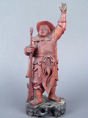Fine Old Chinese Carved Wood Figurine Carving Sculpture Scholar Art