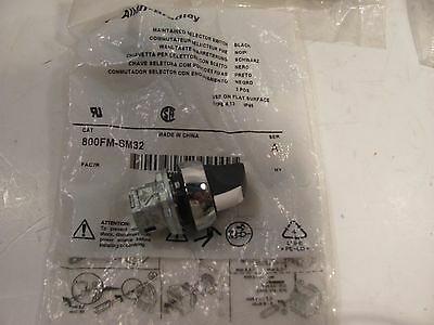 ws  ALLEN BRADLEY AB 800FM-SM32 MAINTAINED SELECTOR SWITCH  BLACK