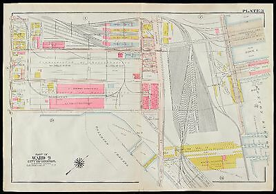 1919 G.w. Bromley, South Boston, Ma, Commonwealth Fish Pier, Copy Plat Atlas Map