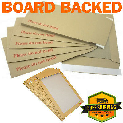Please Do Not Bend Hard Card Board Backed Manilla Brown Envelopes A4 /c4 A5 /c5