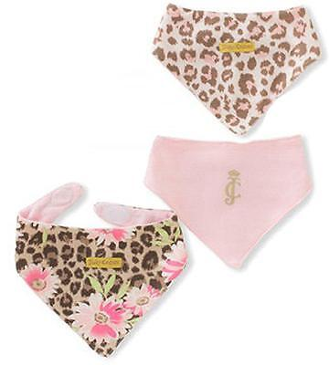 Juicy Couture Infant Girls Cheetah Print 3Pack Handkerchief Bibs Size One Size