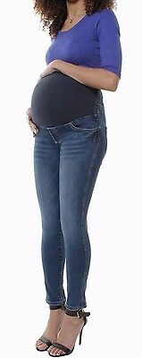 New Maternity Denim Skinny High Waist Jeans Pregnancy Over Bump Pants 6 8 10 12