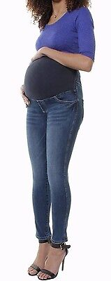 Skinny Denim Over Bump Jeans Jeggings  Maternity Stretchy Pregnancy Pants 8 To24