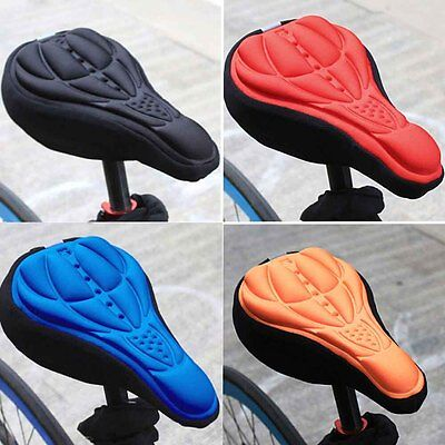 Bicycle 3D Silicone Saddle Seat Soft Pad Cycling Bike Cover Gel Cushion Cover