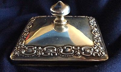 Ornate Repousse Sterling Silver Paperweight Paper Weight