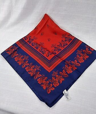 Vintage Totes Rain Scarf Blue and Red Floral