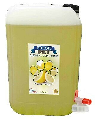 25L FRESH PET Kennel Dog / Cat Disinfectant, Cleaner, Deodoriser LEMON inc TAP