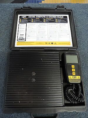 CPS CC220 Compute-A-Charge 220 LB Refrigerant Scale With Hard Case