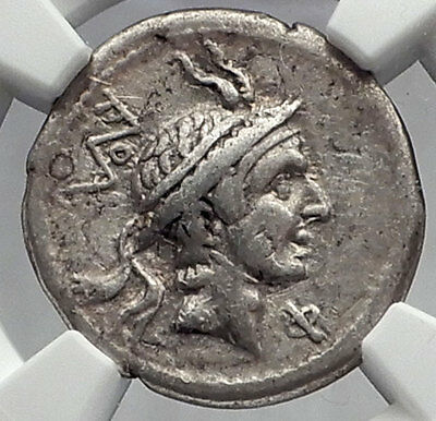 Roman Republic ROME Defeats PHILIP V Macedonia KING Silver Roman Coin NGC i60152