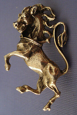 Vintage Style Rearing Horse Pin Wild Stallion Medieval Mustang Jewelry Mane