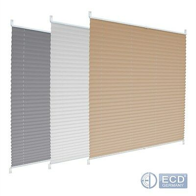 Window Pleated Blind No Drilling Clip Fit Fix Pleats Vertical Cream/gray/white