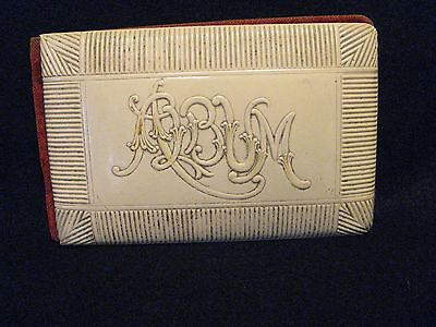 Antique Victorian Era Unused Autograph Album, Celluloid Cover and Velvet Backing