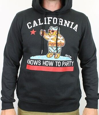 Riot Society Mens Graphic Pullover Sweatshirt Hoodie Black Small S New