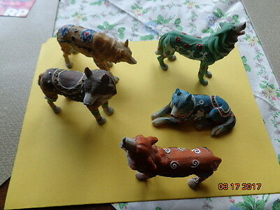 Wolf Figurine a lot of 5 (five)