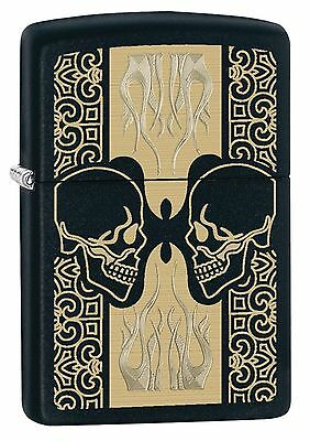 Zippo Windproof Lighter With Laser Engraved Skulls Design, 29404, New In Box
