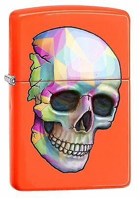 Zippo Windproof Lighter With Multi Colored  Skull, 29402, New In Box