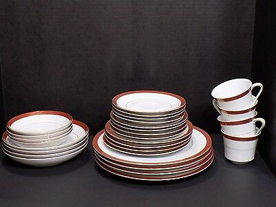 CROWN EMPIRE Japan Empress China Set 28 Pc / 4 Place Settings Plates Cups Bowls
