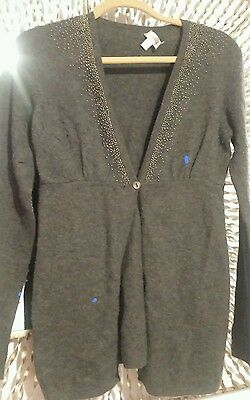 A Pea in the Pod maternity cashmere embellished sweater cardigan size small