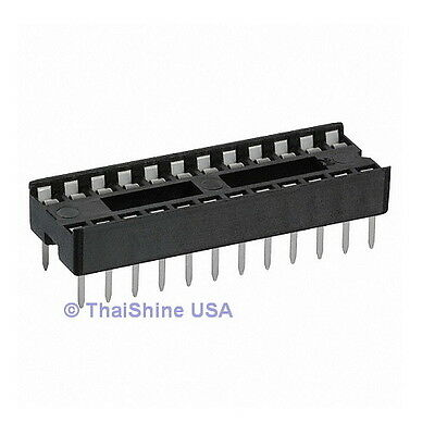 20 x 24 pin DIP IC Sockets Adaptor Solder Type Socket - USA SELLER Free Shipping