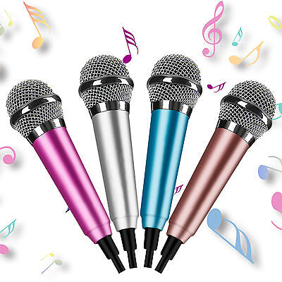 Smallest Mini Microphone Portable Small Mic For Karaoke PC Computer Mobile Phone