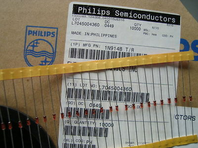 50 pcs 1N914B High Speed Switching Diode (manufacturer—Phillips)
