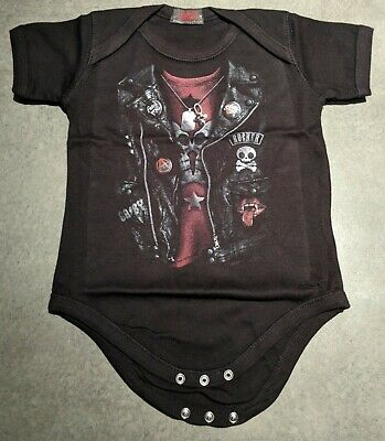 Sons Of Anarchy Baby Biker Harley Davids Jacket Romper Newborn -18 Months 0000-0