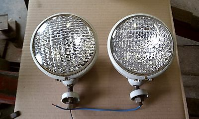 Two (2) Vintage Working Ford 8N 9N 2N Tractor Headlights