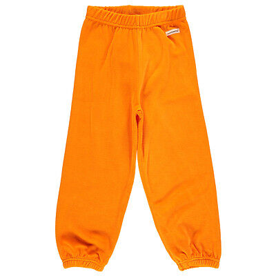 Orange organic velour toddler and children's bottoms by Maxomorra (18-24m)