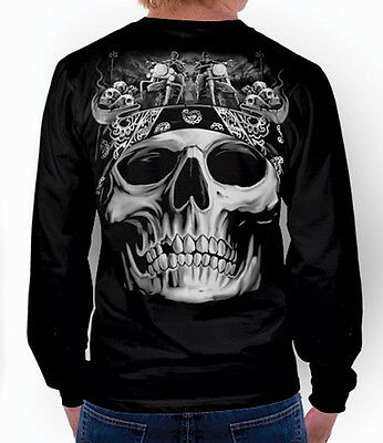Outlaw Bikie Bandana Harley Davidson Indian Mc Long Sleeve T-Shirt M L 3Xl