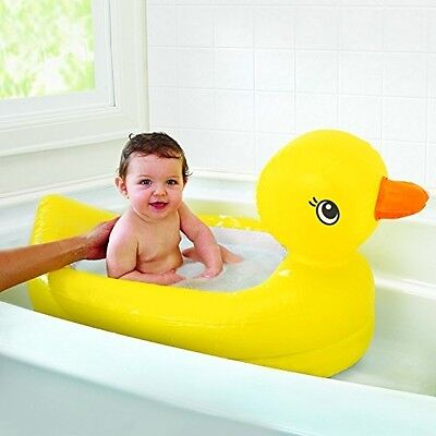 NEW Munchkin White Hot Inflatable Duck Tub Baby Toddler Bathtime Fun FREE P and
