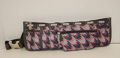 LESPORTSAC  WAIST BAG FANNY PACK Grey w/mixed colors Excellent