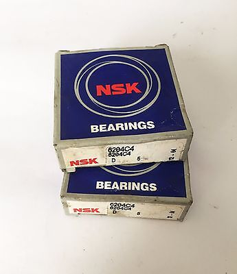 2 X Nsk Cuscinetto A Sfere  20X47X14 6204C4 Ball Bearing